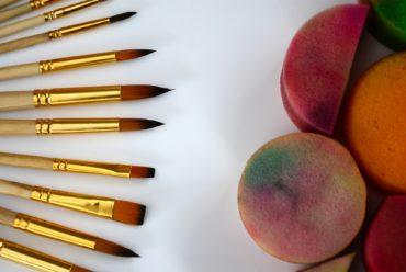 Mitmachangebot – Malen mit einem Schwamm